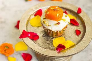 Diwali Baking - Mithai Cupcakes with Yogurt Frosting (Eggless)