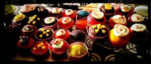 Holi Cupcakes/Rainbow Cupcakes