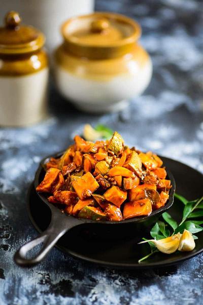 Kerala Style Instant Mango Pickle | Onam Sadya Recipe